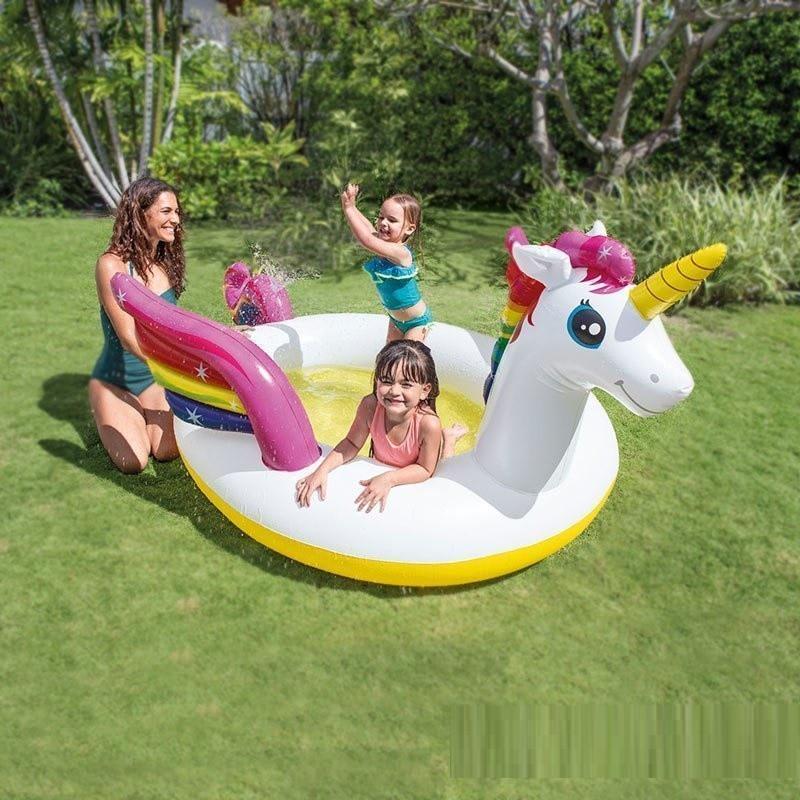 Детский надувной центр Intex «Единорог» Детский бассейн Бассейн для детей Надувной бассейн