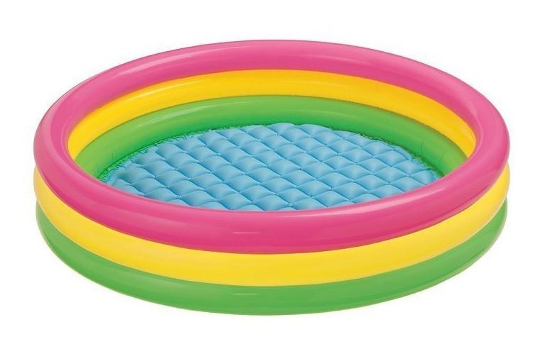 """Детский надувной бассейн """"Радуга"""" (147*33 см) Детский бассейн Бассейн для детей Надувной бассейн"""