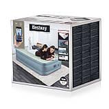 Двухспальная надувная кровать со встроенным электронасосом Bestway 69058 (203-152-51 см), фото 4
