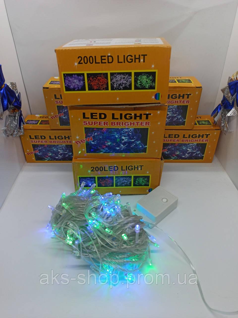 Гирлянда 200LED (RD-7141) 18м Провод-Белый, Цвет ламп-Микс (50)