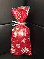 Новогодний пакет полипропиленовый для упаковки конфет, выпечки, сувенира 19,3х35, 50шт/уп