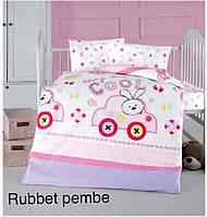"""ОРИГИНАЛ Детский комплект постельного белья в кроватку ALTINBASAK """"Rubbet pembe"""" Турция"""