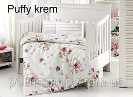 """ОРИГИНАЛ  Детский комплект постельного белья в кроватку ALTINBASAK """"Puffy krem"""" Турция"""