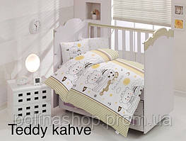 """ОРИГИНАЛ Детский комплект постельного белья в кроватку ALTINBASAK """"Teddy kahve"""" Турция"""
