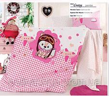 """ОРИГИНАЛ Детский комплект постельного белья в кроватку ALTINBASAK """"Crazy pembe"""" Турция"""
