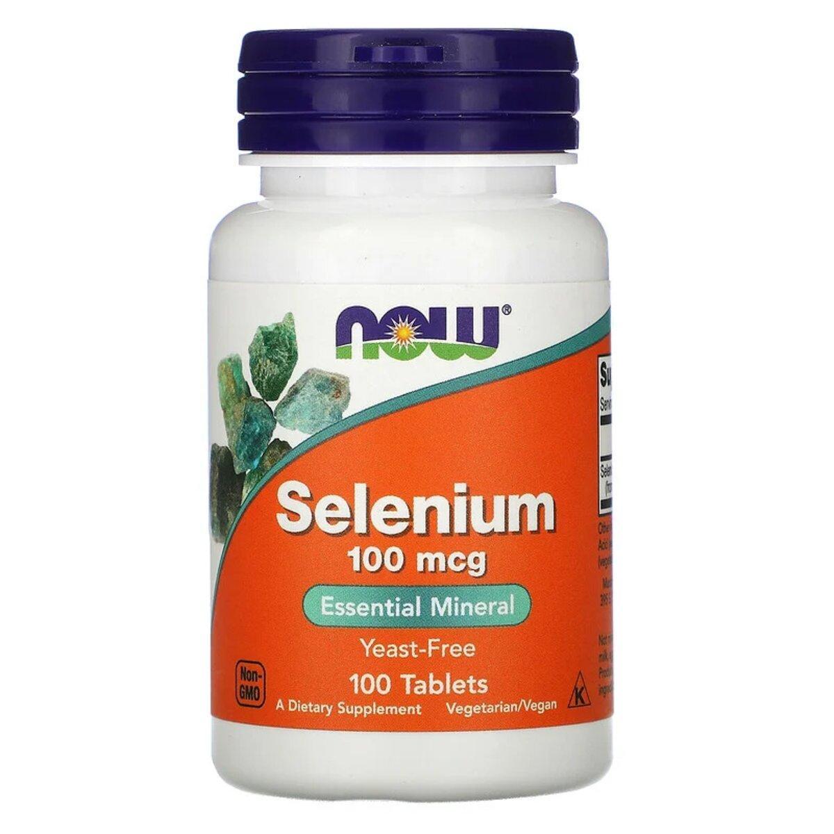Селен, Selenium, Now Foods, 100 мкг, 100 таблеток