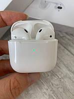 Наушники беспроводные с сенсором уха Air Pods Pro 4 оригинальный дизайн качественное и чистое звучание Белые