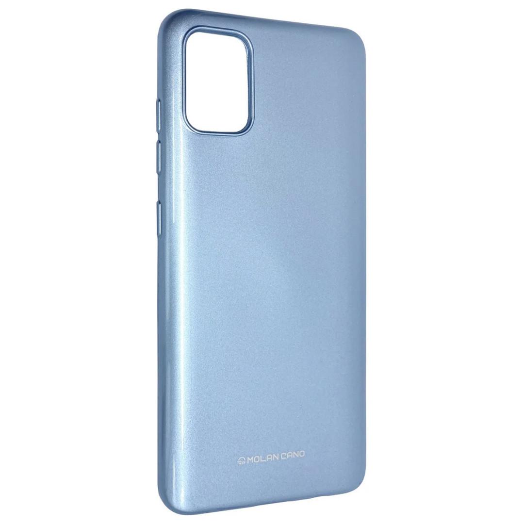 Силиконовый чехол для Samsung Galaxy A51 (SM-A515), Molan Cano, голубой с микроблеском