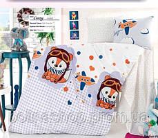"""ОРИГИНАЛ  Детский комплект постельного белья в кроватку ALTINBASAK """"Crazy mavi"""" Турция"""
