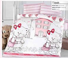 """ОРИГИНАЛ  Детский комплект постельного белья в кроватку ALTINBASAK """"Suslu"""" Турция"""