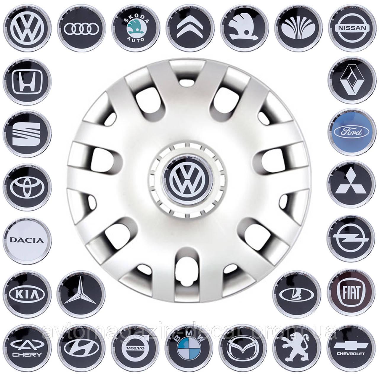 """Колпаки """"14"""" (SKS-204) + эмблемы на выбор (VW Polo)"""