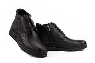 Мужские ботинки кожаные зимние черные Vivaro 931