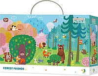 Пазл Лесные друзья, пазл животные для детей, Forest Friends, 80 элементов - DoDo