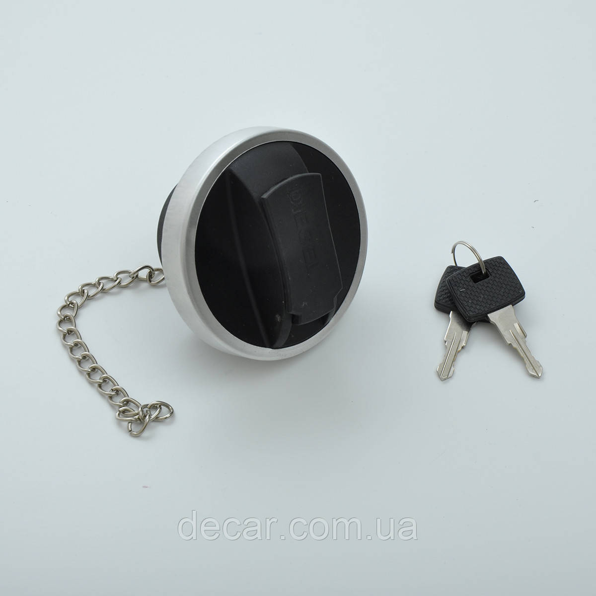 Крышка б/бака TIR черная Турция 051060 Д=60мм/под ключ/с цепочкой(пластиковая)