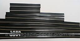 """Молдинг кузова Lada 2101,2107  1 полоса хром узкий  """"Sahler"""" SH 501 / 4см/0,5см (25 в/ящ.)"""