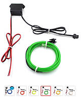 Неоновая лента  в салон авто  12V Зеленая 5м (43503)
