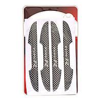 Защита на двери (силиконовая наклейка) TYPER карбон 4шт