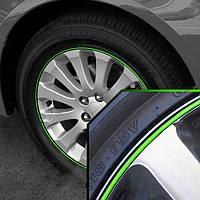 Молдинг на колесо  зеленый (П-образный молдинг с 3м скотч,на который клеится цветная полоса (2901)