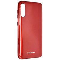 Силиконовый чехол для Samsung Galaxy A30S (SM-A307), Molan Cano, красный с микроблеском