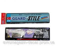Рамка номера со стеклом (красный катафот) GUARD-Style SAK 45 (Турция)