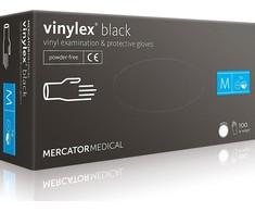 Перчатки виниловые Vinylex Black M нестерильные неопудренные (50 пар/уп)