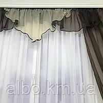 Шторы шифоновые для спальни дома зала, готовые шторы в комнату зал кухню прихожую, шторы шифон для зала, фото 5