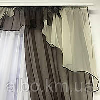 Шторы шифоновые для спальни дома зала, готовые шторы в комнату зал кухню прихожую, шторы шифон для зала, фото 4