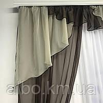 Шторы шифоновые для спальни дома зала, готовые шторы в комнату зал кухню прихожую, шторы шифон для зала, фото 6