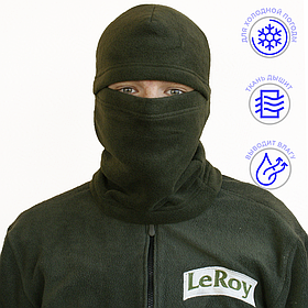 Балаклава LeRoy Олива (зимова, фліс)
