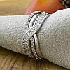 Кольцо Xuping 14692 размер 18 ширина 8 мм вес 2.5 г белые фианиты позолота Белое золото, фото 4