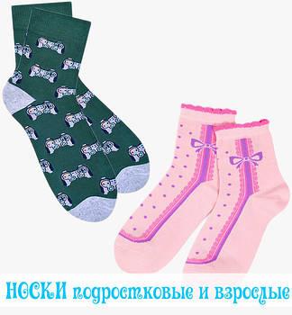 Шкарпетки дорослі та підліткові