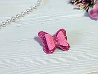 Бантик Бабочка для собаки (ВИДЕО) розовый блестящий для выставок и дома Pets Couturier SIMBA
