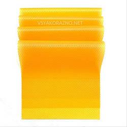 Антибактериальный коврик для холодильника (набор 4 шт) оранжевый прозрачный
