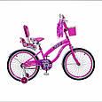 Іспанська дитячий рожевий велосипед з кошиком RUEDA 20 дюймів (Квіточка) від 10 років, фото 2