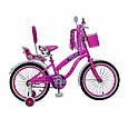 Іспанська дитячий рожевий велосипед для дівчинки з кошиком RUEDA 18 дюймів (Квіточка) на 5-8 років, фото 3