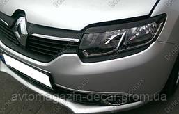 """Реснички фар Renault Logan 13- \Sandero 13- """"FLY"""" широкая"""