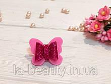 Бантик Бабочка для собаки (ВИДЕО) розово-малиновый блестящий для выставок и дома Pets Couturier SIMBA