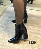 Жіночі лакові черевики з флісом, фото 3