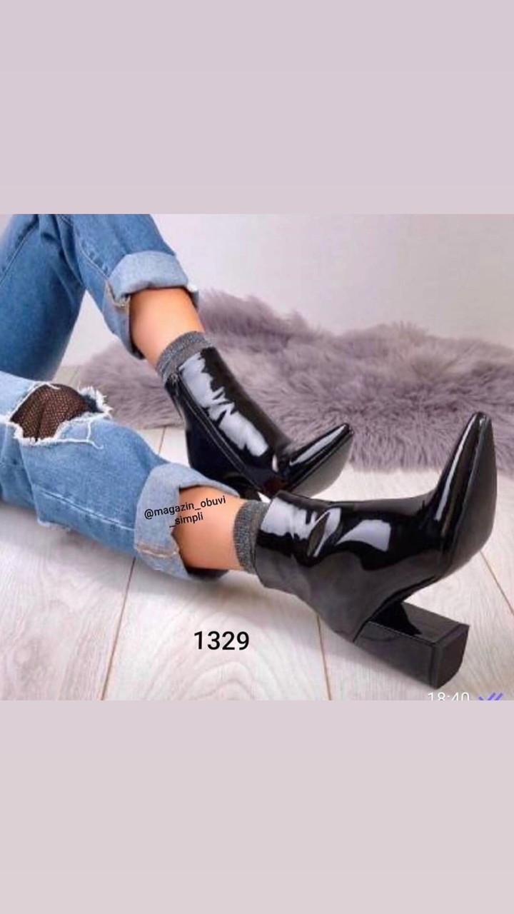 Жіночі лакові черевики з флісом