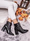 Жіночі лакові черевики з флісом, фото 2