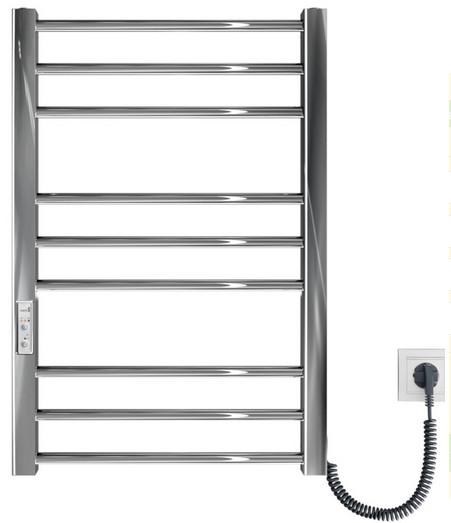 Электрический полотенцесушитель Mario Премиум Классик–I 800x500/80 TR таймер и регулятор / правый