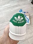 Женские демисезонные кроссовки Adidas Stan Smith (бело-зеленые) D33, фото 5
