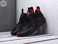Мужские кроссовки Nike Air Max 90 Mid Ultra Termo Black/Red (черно-красные) 247PL 45