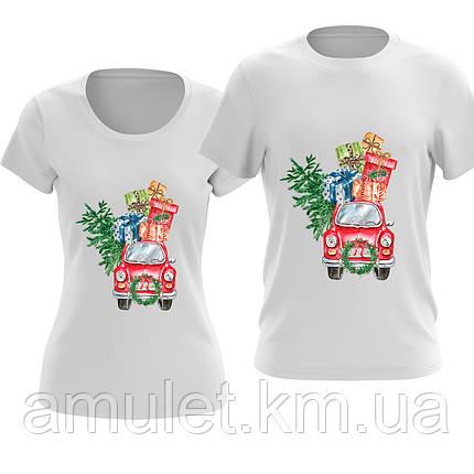 Парні футболки MERRY CHRISTMAS В наявності білі/чорні/червоні, фото 2
