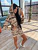 Жіноча спортивна міні плаття з капюшоном в принт
