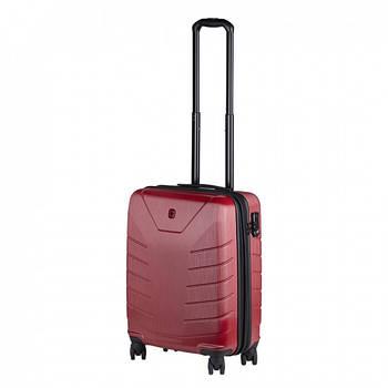 Пластиковый дорожный чемодан 39х55см на колесах Wenger Pegasus Малый 4 колеса Красный (610124)