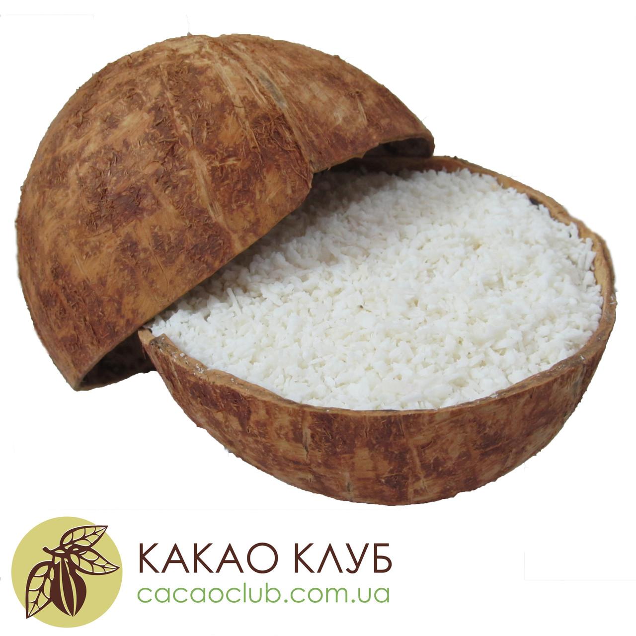 Кокосовая стружка, 65% жирности, крупные по размеру частицы, 1.0 кг