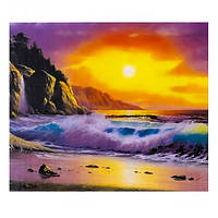 """Картина за номерами """"Захід сонця на березі"""", 40х50см. №30801"""