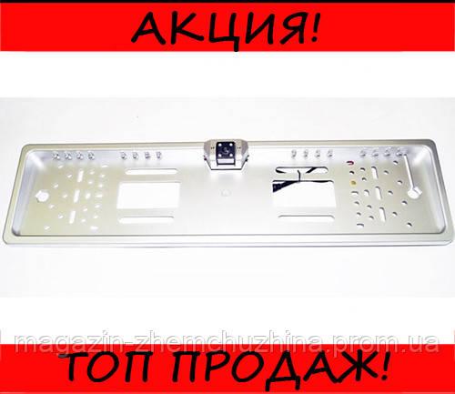Камера заднего вида рамка 16LED Silver с подсветкой номера