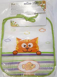 Нагрудник влагонепроницаемый, 6+,Baby Тeam, арт. 6503 (котик)